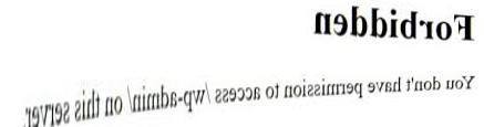 Error 403 (forbidden) !! 1